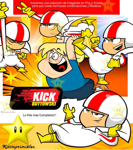 kit imprimible doble de riesgo kick buttowski candy bar