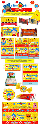 kit imprimible el payaso plim plim diseñá tarjetas y mas