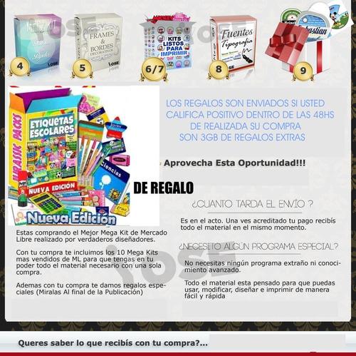 kit imprimible empresarial super gold tarjetas candy bar ful