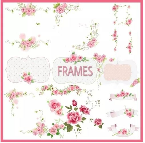 Kit Imprimible Frames Shabby Chic Clipart Png