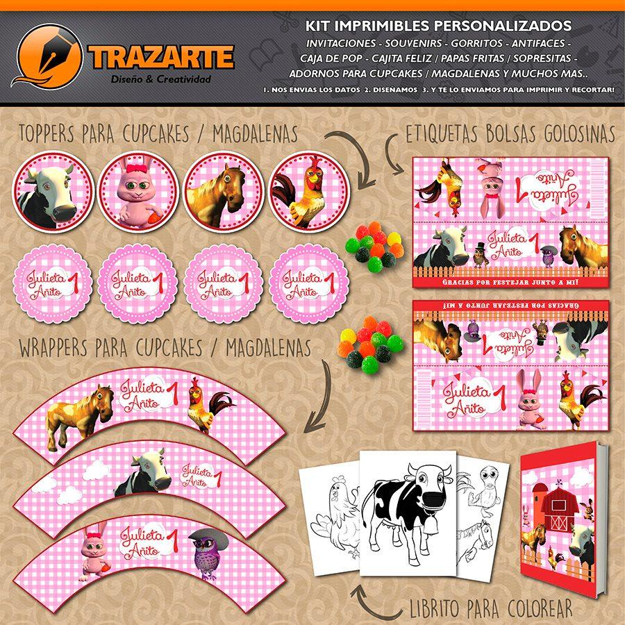 Kit Imprimible Granja De Zenon Canciones Personalizado Candy - $ 500 ...