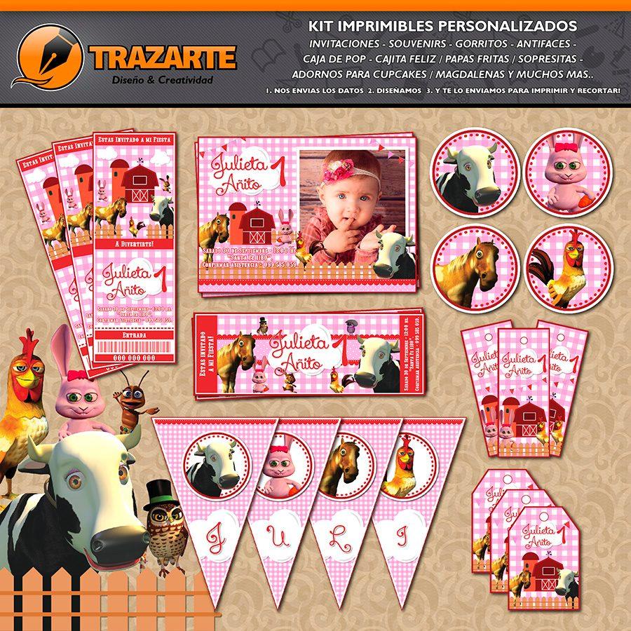 Kit Imprimible Granja De Zenon Canciones Personalizado Candy 500