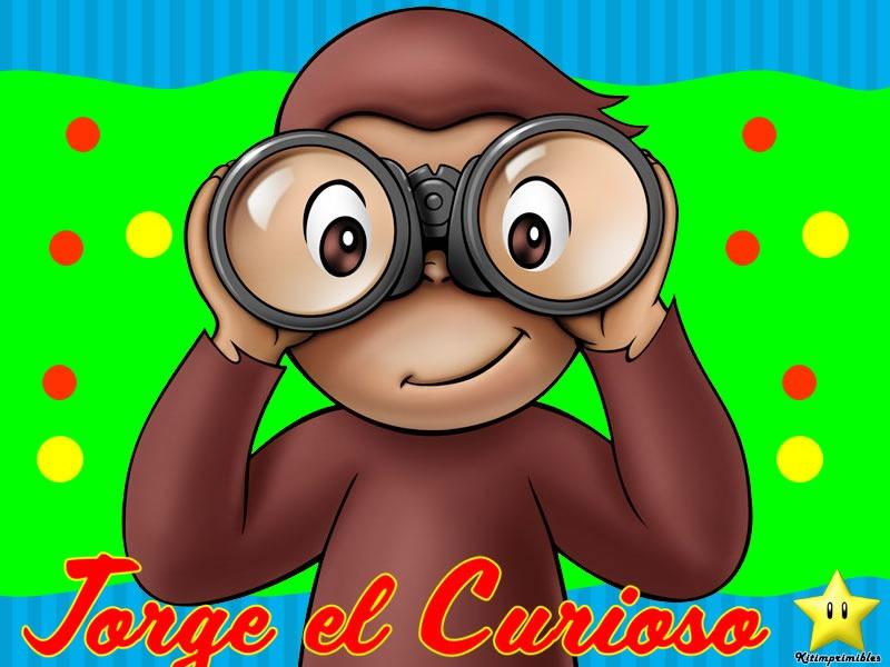 Kit Imprimible Jorge El Curioso Diseñá Tarjetas Cumples