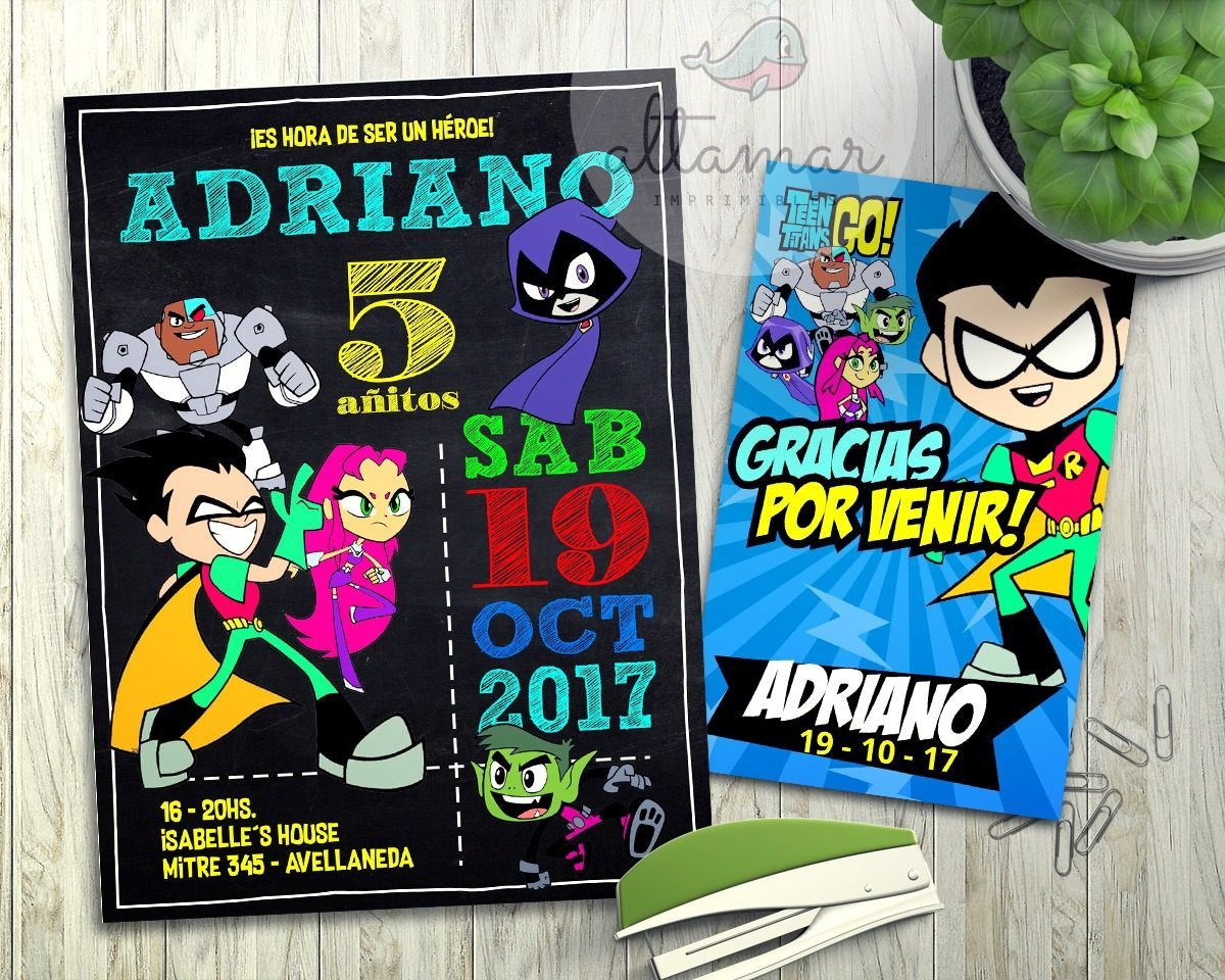 Kit Imprimible Jóvenes Titanes Teen Titans Go Candy Bar