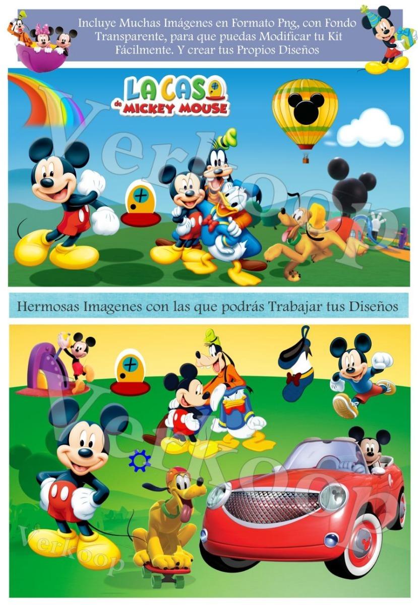 Kit Imprimible La Casa D Mickey Mouse Personaliza Fiesta