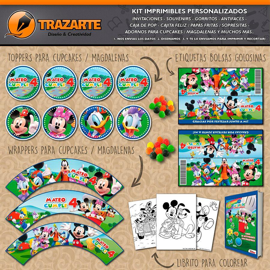 Kit Imprimible La Casa De Mickey Mouse Personalizado Candy B - $ 500 ...