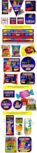 kit imprimible lego candy bar golosinas cumples y mas