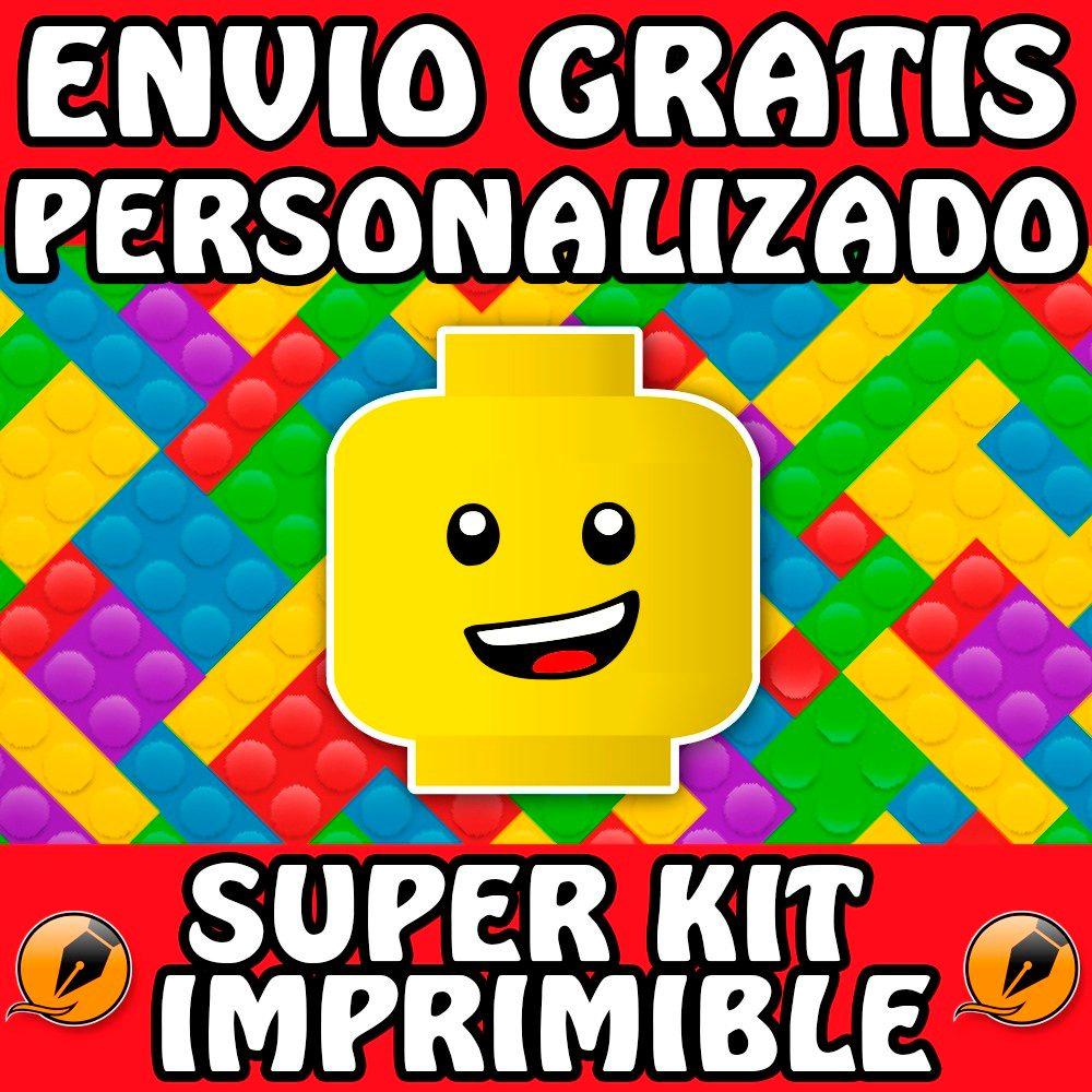 Kit Imprimible Lego Personalizado Gratis Candy Bar Trazarte - $ 500 ...