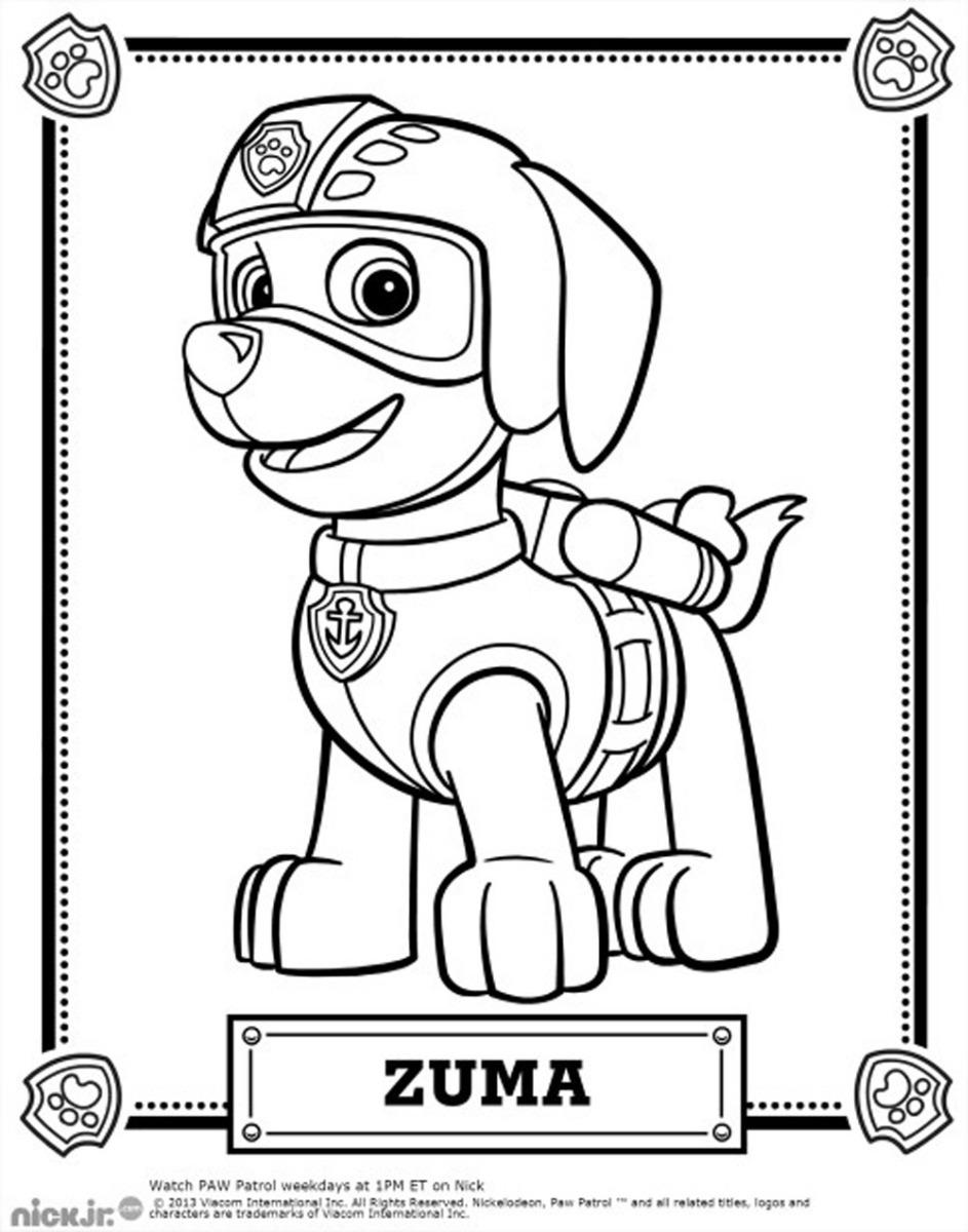 Kit Imprimible Libro Colorear Paw Patrol Patrulla Canina