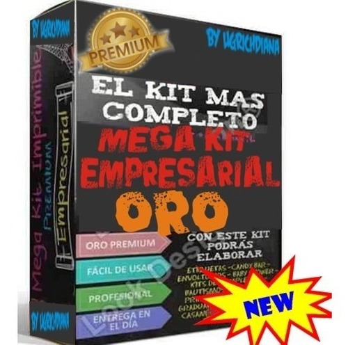 kit imprimible mega empresarial oro candy bar nuevos 3