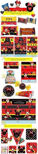 kit imprimible minnie roja diseñá tarjetas, cumples y mas