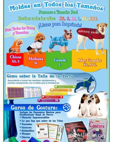 kit imprimible moldes patrones ropa para perros y gatos l5