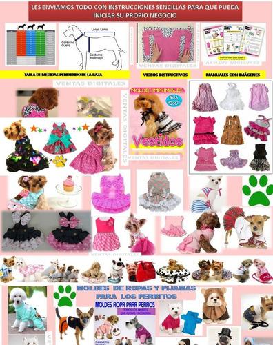 kit imprimible moldes patrones ropa para perros y gatos x4