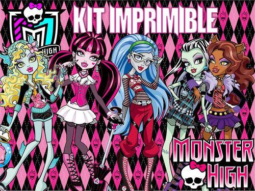 kit imprimible monster high - invitaciones y mas