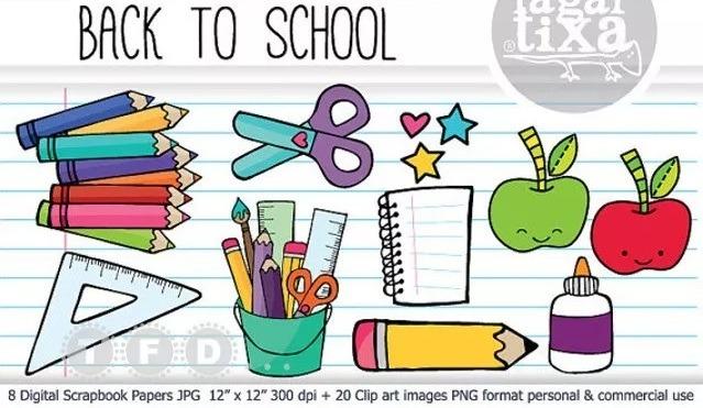 Kit Imprimible Papel Digital Escolar Colegio Fondos Jpg - $ 50,00 en ...