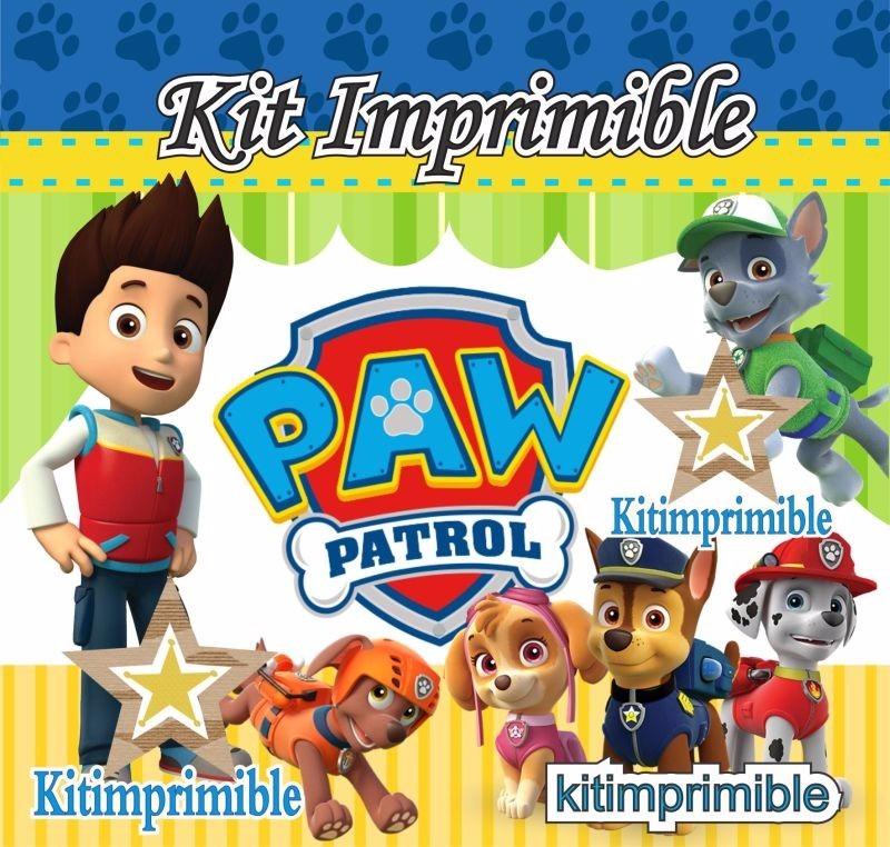 Kit Imprimible Paw Patrol Candy Bar Cumples Personalizados