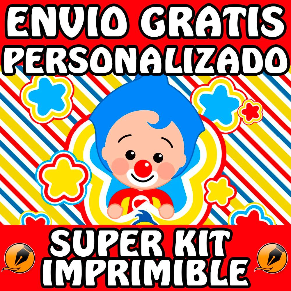 Kit Imprimible Payaso Plim Plim Perzonalizado Candy Bar - $ 500,00 ...