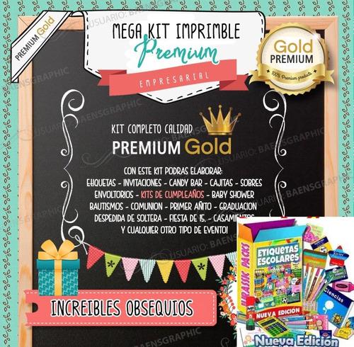 kit imprimible premium - candy bar n u e v o + regalos 3