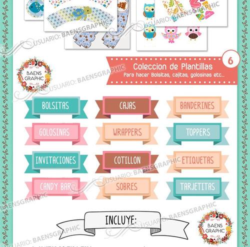 kit imprimible premium - candy bar n u e v o + regalos
