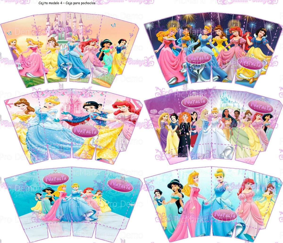 Kit Imprimible Princesas Disney Totalmente Personalizable - $ 150,00 ...