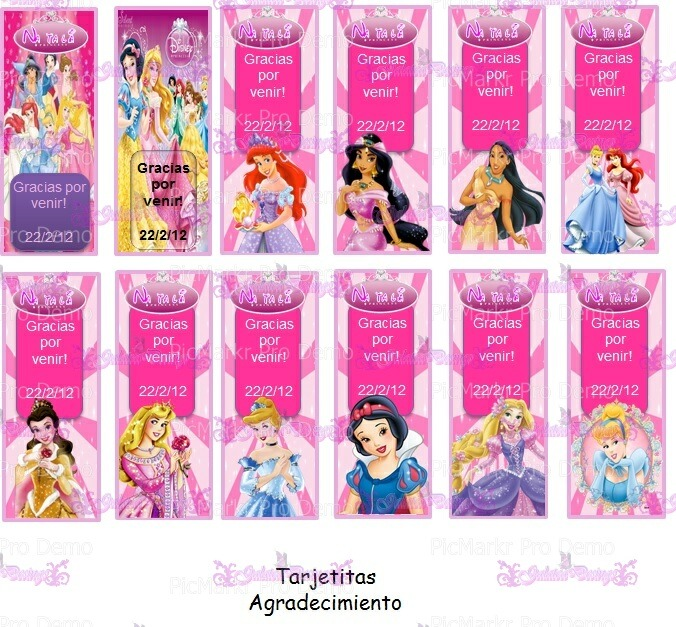 Kit Imprimible Princesas Disney Totalmente Personalizable - $ 150,00 ...