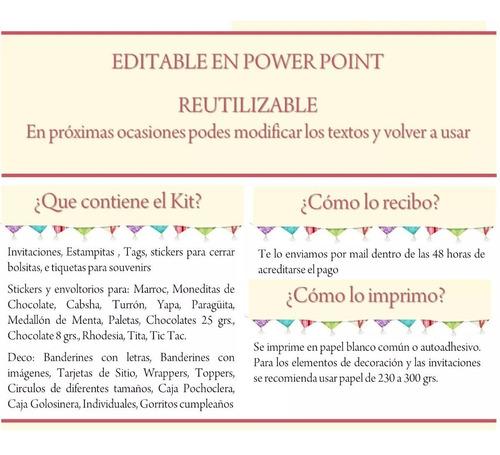 kit imprimible retro vintage cumple bautismo candy bar deco