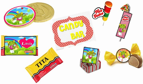 kit imprimible sapo pepe: diseña tarjetas, candy bar deco