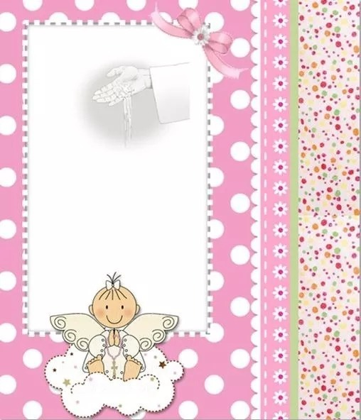 Kit Imprimible Tarjetas Bautizo Niños Y Niñas Invitaciones