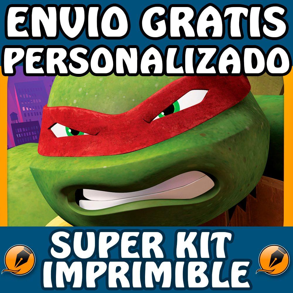 Kit Imprimible Tortugas Ninjas Personalizado Gratis Cumpleañ - $ 500 ...