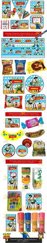 kit imprimible toy story candy bar golosinas cumples y mas