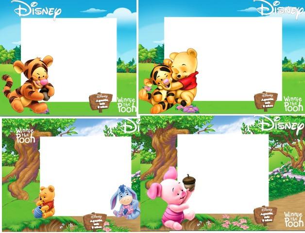 Kit Imprimible Winnie Pooh Bebes Tarjetas Cumple Cotillon2x1