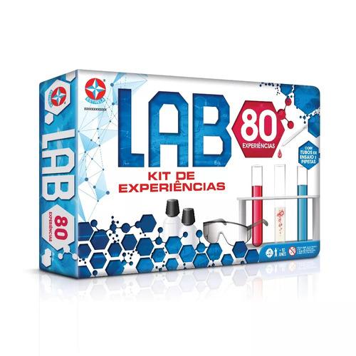 kit jogo de experiêncis lab 80+ lab 42 estrela