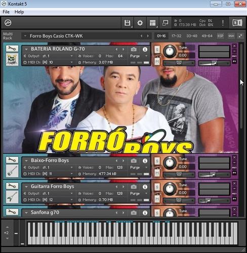 kit kontakt forro boys para teclado casio ctk-wk+ ritmos