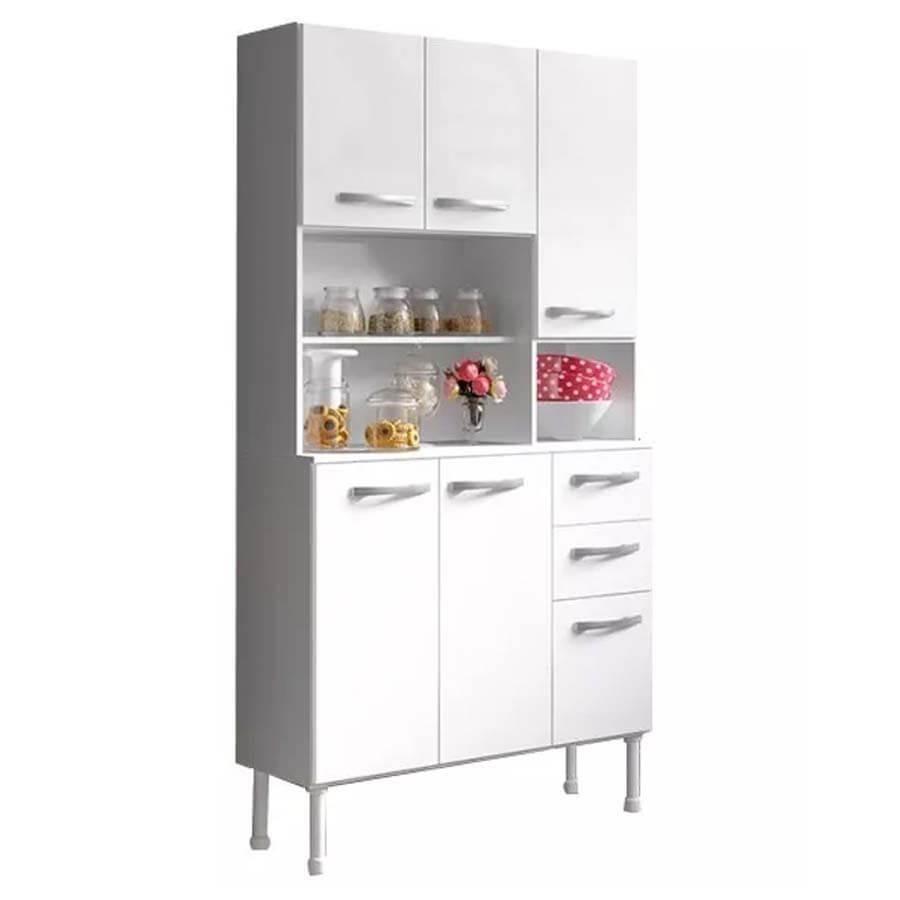 Kit Modular Mueble Cocina 6 Puertas + 2 Cajones + Estantes