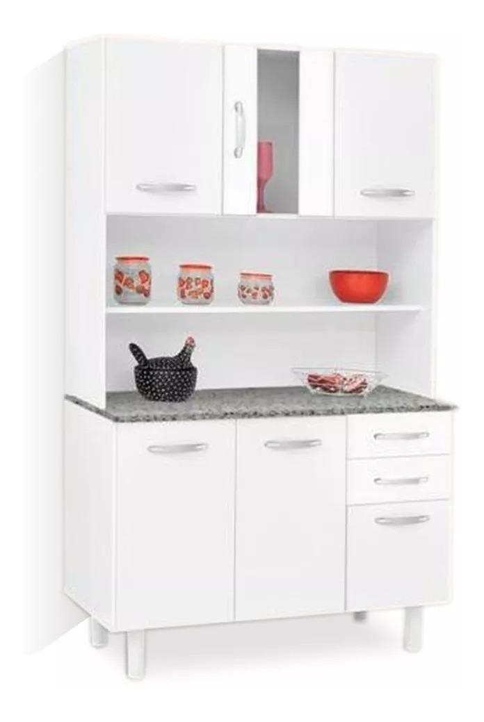 Kit Mueble De Cocina Blanco Con Alacena, 6 Puertas 2 Cajones