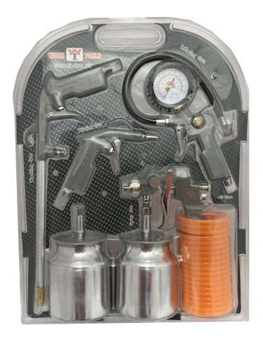 kit pintor pistolaspara pintar con compresor aire-