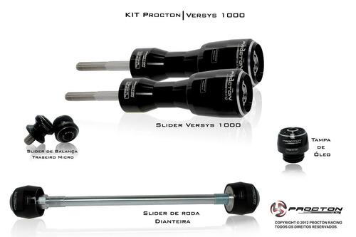 kit slider procton racing kawasaki versys 1000 - completo