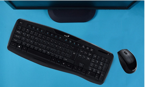 kit teclado mouse inalambrico genius kb 8000x smart tv pc
