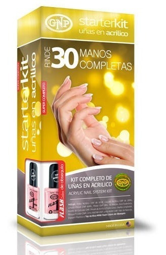 kit uñas en acrilico gnp rinde 30 manos completas