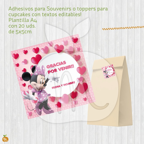 kits imprimible textos editables cumple minnie! baby shower