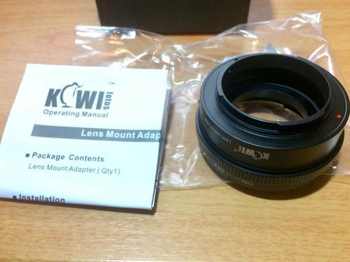 kiwifotos adaptador de lentes de nikon g a sony e