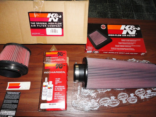 k&n filtros conicos - kit admicion directa - kit originales