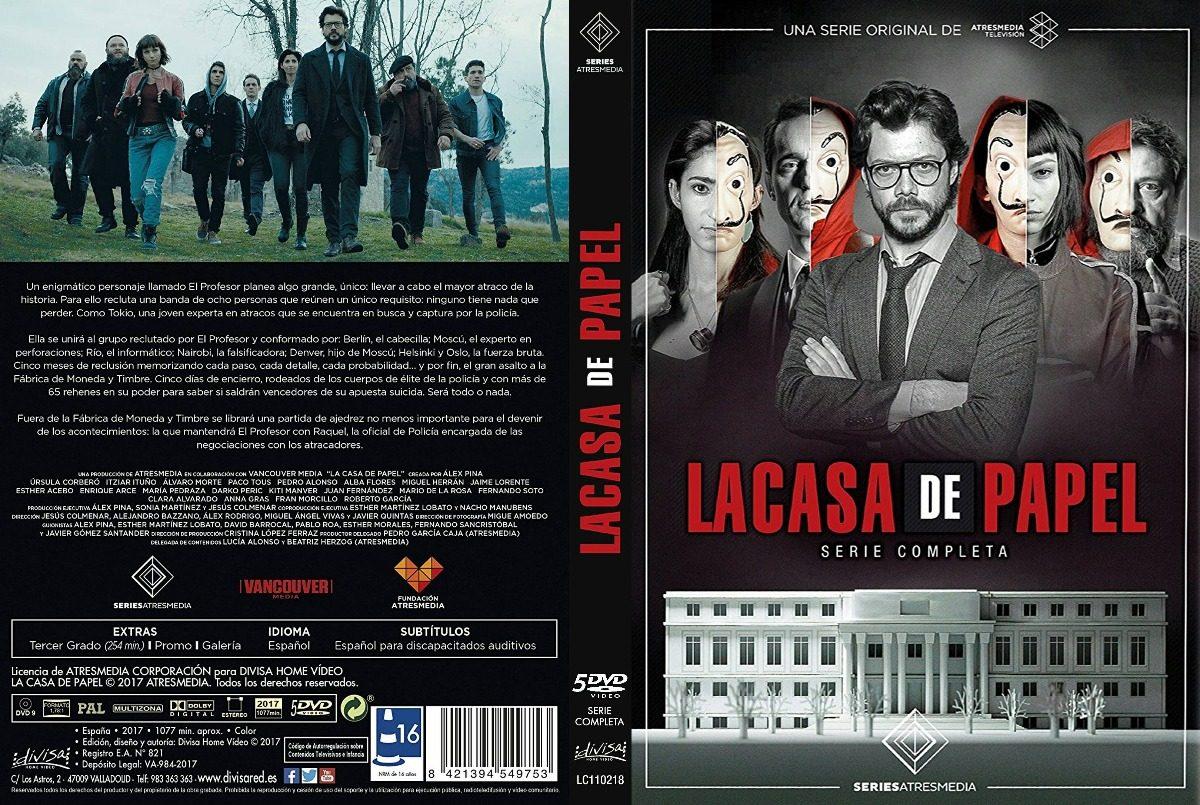 La casa de papel tv series 5 dvd completa 15 capitulos 500 00 en mercado libre - La casa de papel temporada 2 capitulo 1 ...