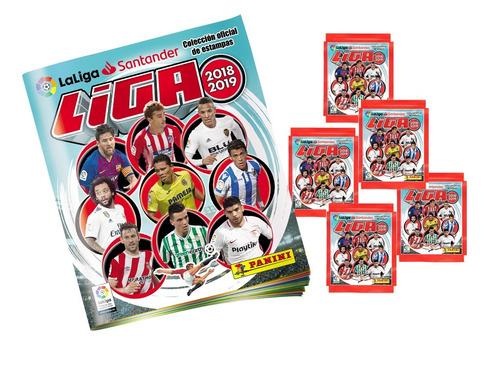 la liga española 2019 - album + 10 sobres de figuritas