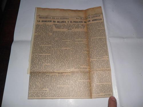 la prensa 1933 guerra milita lloyd rebelion en irlanda