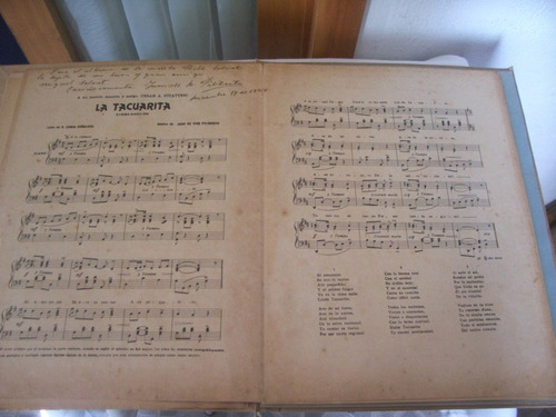 la tacuarita - partitura autografiada año 1924