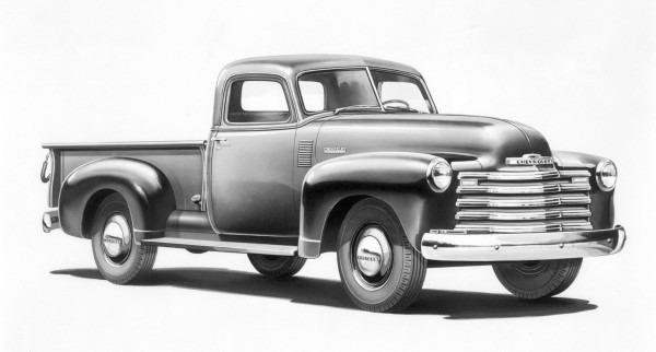 Lámina 45 X 30 Cm. - Autos Clásicos - Chevrolet Pick Up 1953 - $ 380 ...
