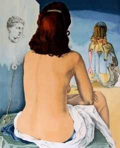 Lamina 45 X 30 Cm Salvador Dali Mi Mujer Desnuda