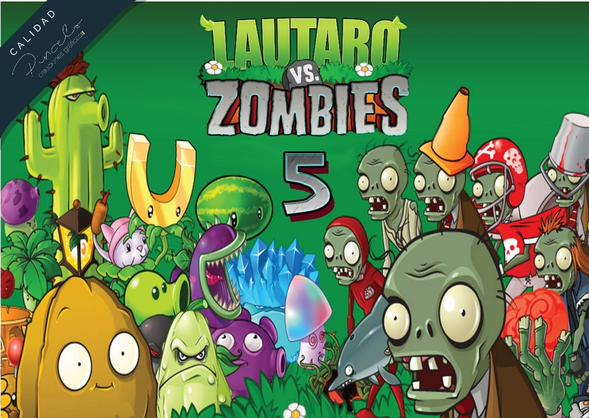 Plants Vs Zombies Cumpleaos Planta Vs Zombies En 2019 Plants