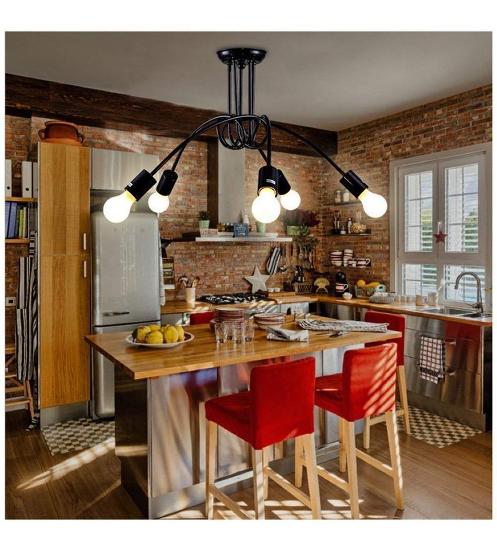 Lámpara 5 Luces De Colgar, Living, Comedor, Cocina
